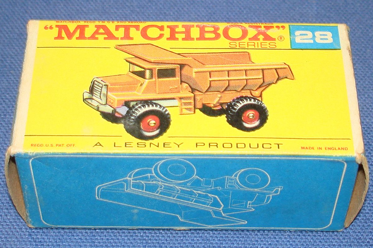 Vintage Matchbox Lesney Made In England Empty Box Mack Dump Truck #28