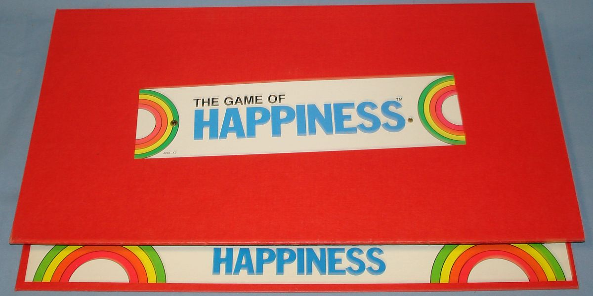 Vintage Milton Bradley MB 4200 The Game Of Happiness Board Sticker