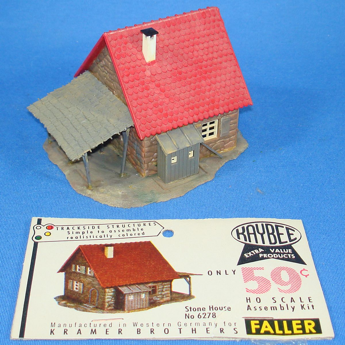 Faller Kaybee Kramer Brothers Trackside Structures HO Scale Assembly Kit Stone House 6278