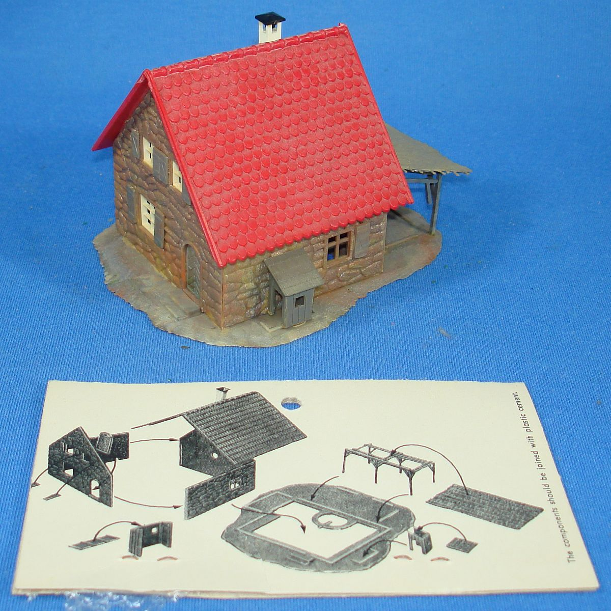 Faller Kaybee Kramer Brothers Trackside Structures HO Scale Assembly Kit Stone House 6278 Instructions