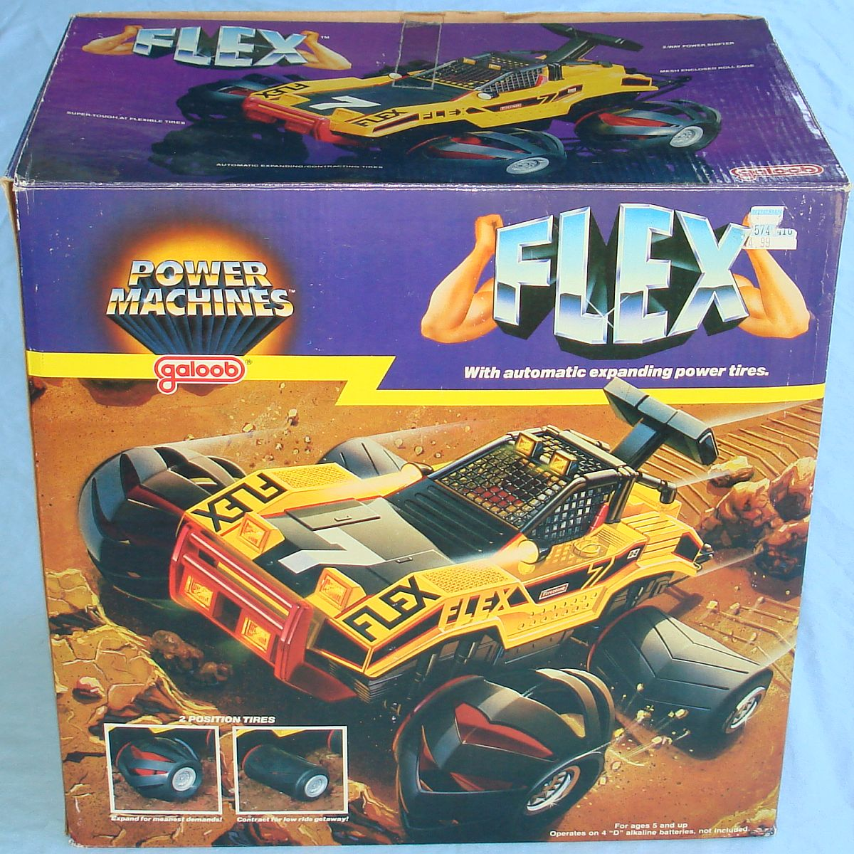 Vintage Lewis Galoob Toys Made In China 4X4 Battery Operated Flex Truck Box