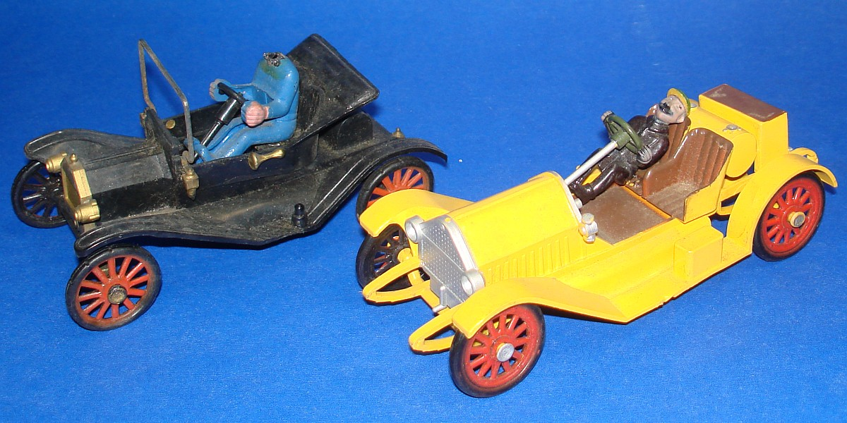 Vintage Highway Pioneers Gowland & Gowland Copyright Model T & Stutz Bearcat Hoods