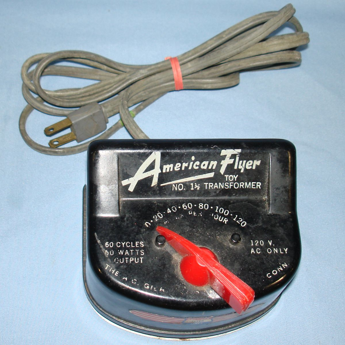 AC Gilbert American Flyer Lines 120 Volt Toy Train Transformer Model #1 1/2