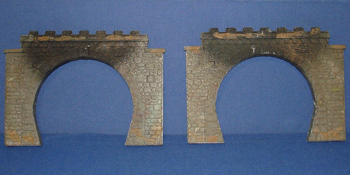 Vintage Faller HO Gauge Model Railroad Train Layout Double Tunnel Portals Sets #557