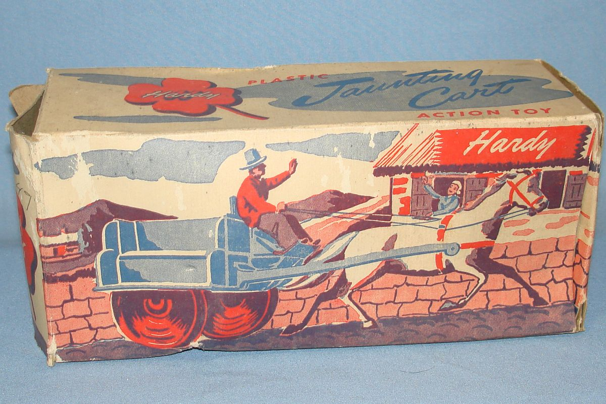 Vintage Hardy Jaunting Cart Plastic Action Toy Cardboard Box #21