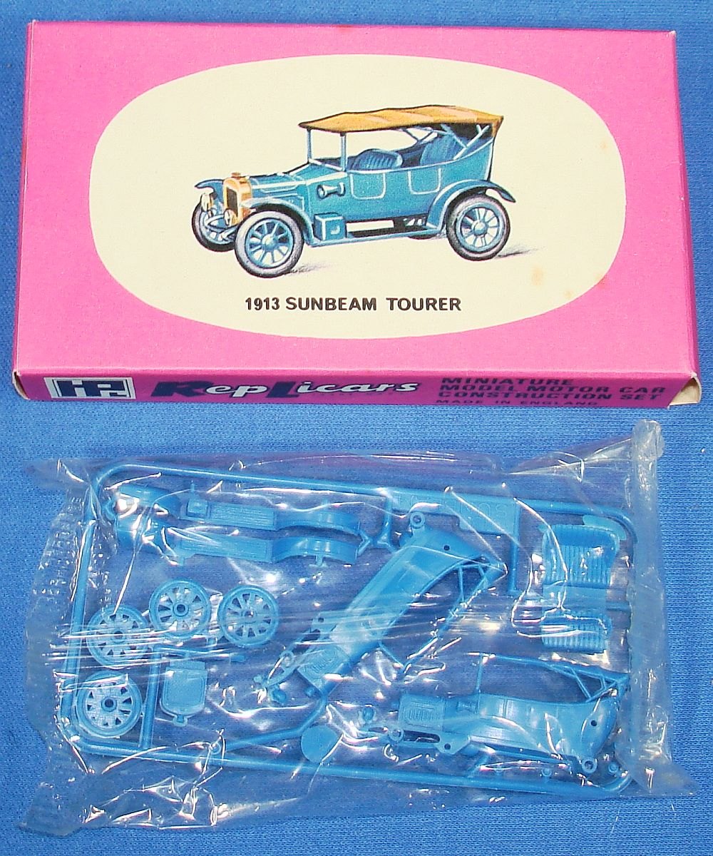 Harbutt`s Replicars Miniature Model Motor Car Construction Set Plastic Model Kit 1913 Sunbeam Tourer