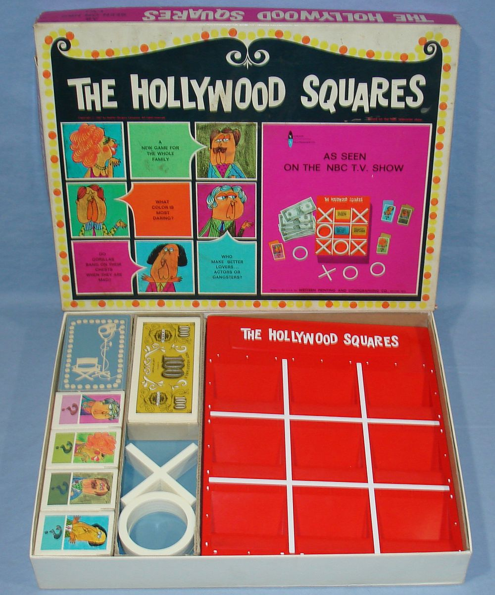 The Hollywood Squares As Seen On The NBC TV Television Show Board Game #4840