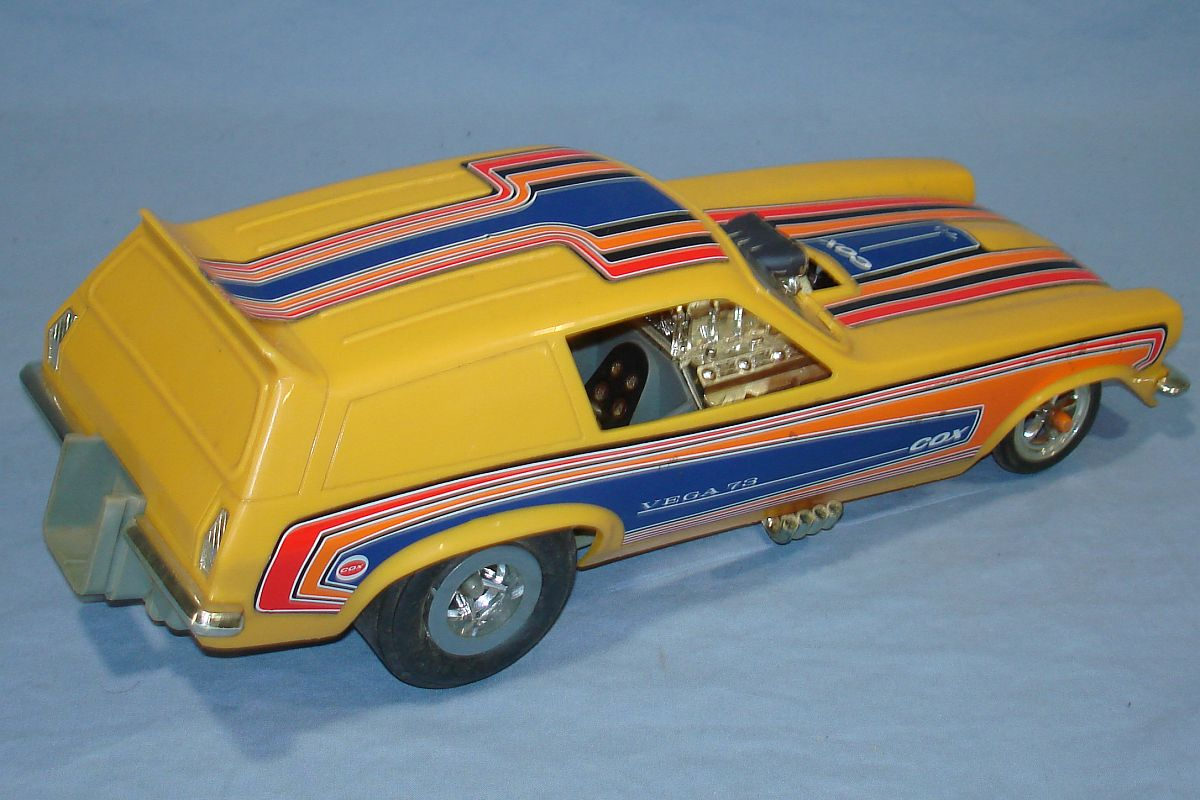Vintage Cox 1973 Chevrolet Chevy Vega 0.049 Gas Powered Drag Tether Car