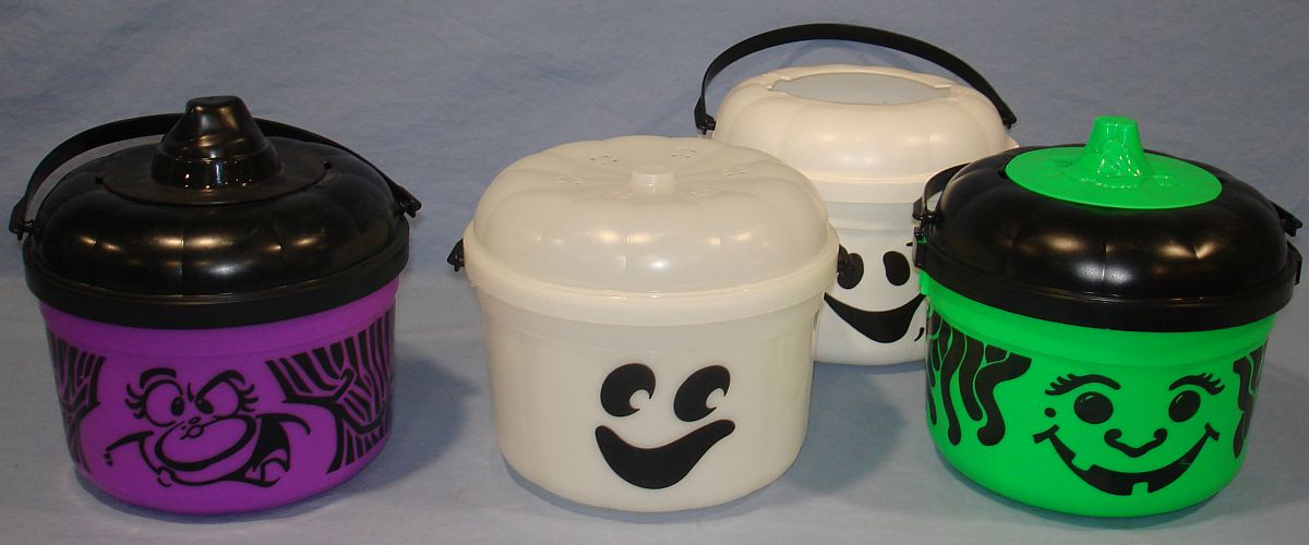 McDonalds Halloween Pails Buckets Ghosts Witches