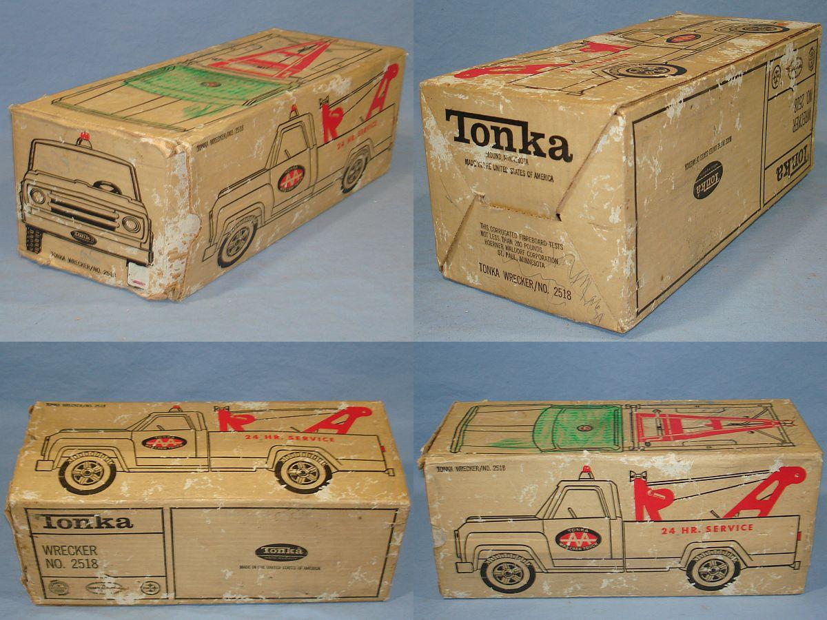 Tonka Toys AAA Pressed Steel Tow Truck Wrecker 2518 Corrugated Fibreboard Box
