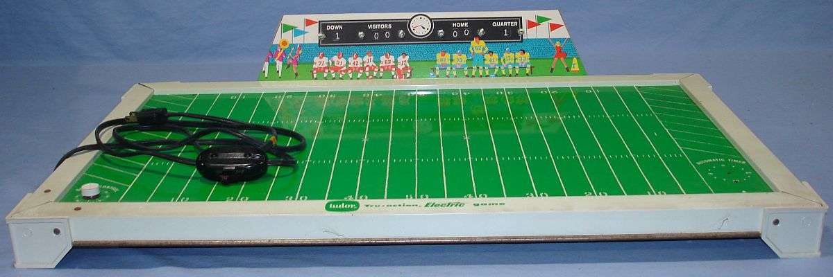 Vintage 1960s Tudor Tru Action Electric Football Game Board Playing Field