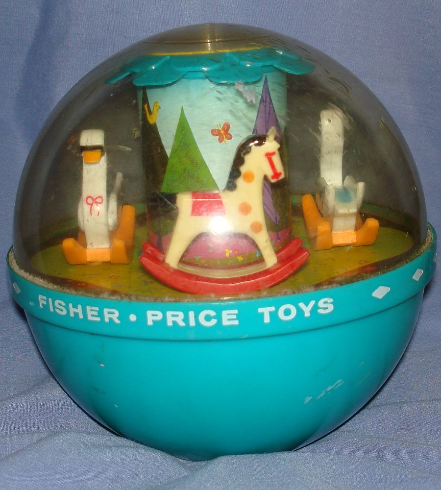 vintage fisher price toys roly poly chime ball 165. Black Bedroom Furniture Sets. Home Design Ideas