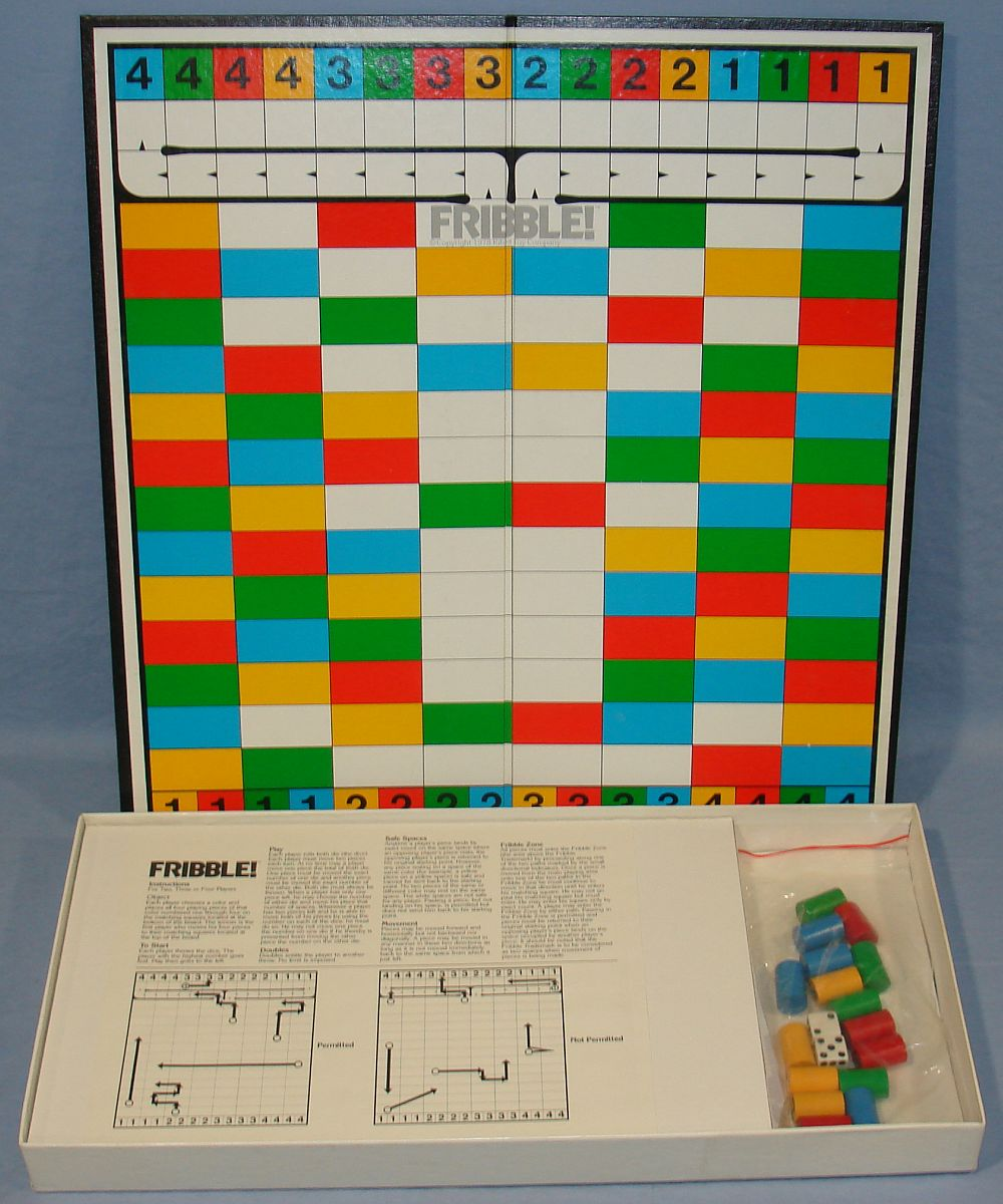 Warren Fribble Exciting Strategy & Chance Board Game Contents Dice Wooden Pieces Instructions