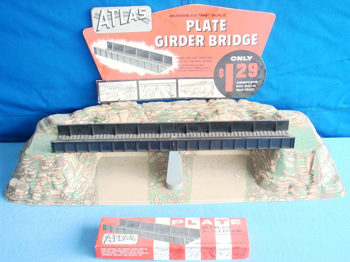 Atlas HO Gauge Trains Model Railroad Plate Girder Bridge Store Counter Display