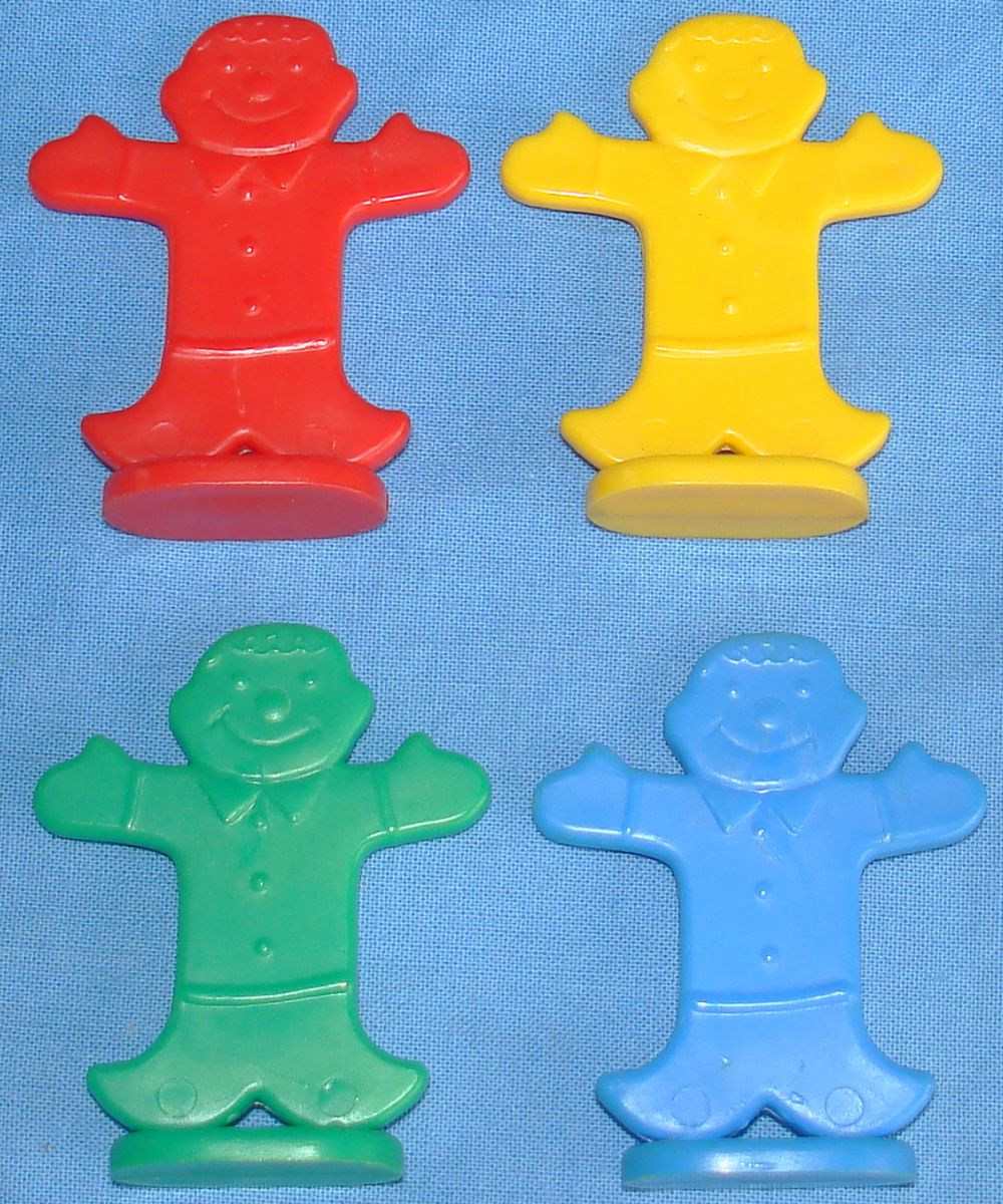 ... BRADLEY MB CANDY LAND GAME BOARD RED YELLOW GREEN BLUE GINGERBREAD MEN