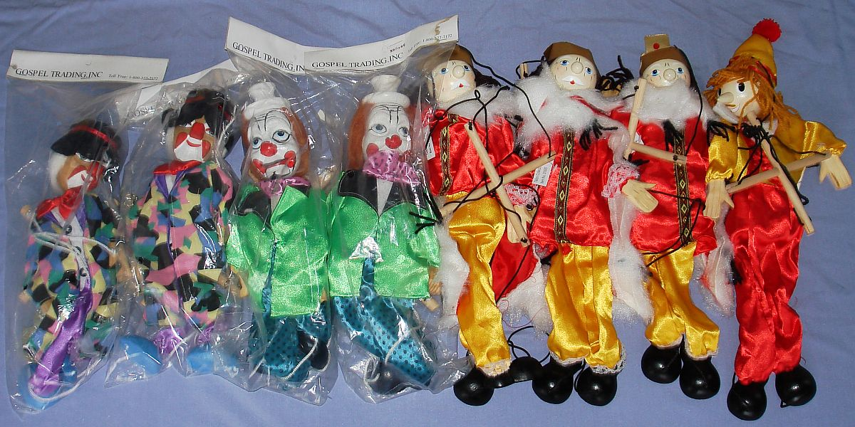 Modern Gospel Trading Inc Made In China Marionettes Puppets Lot