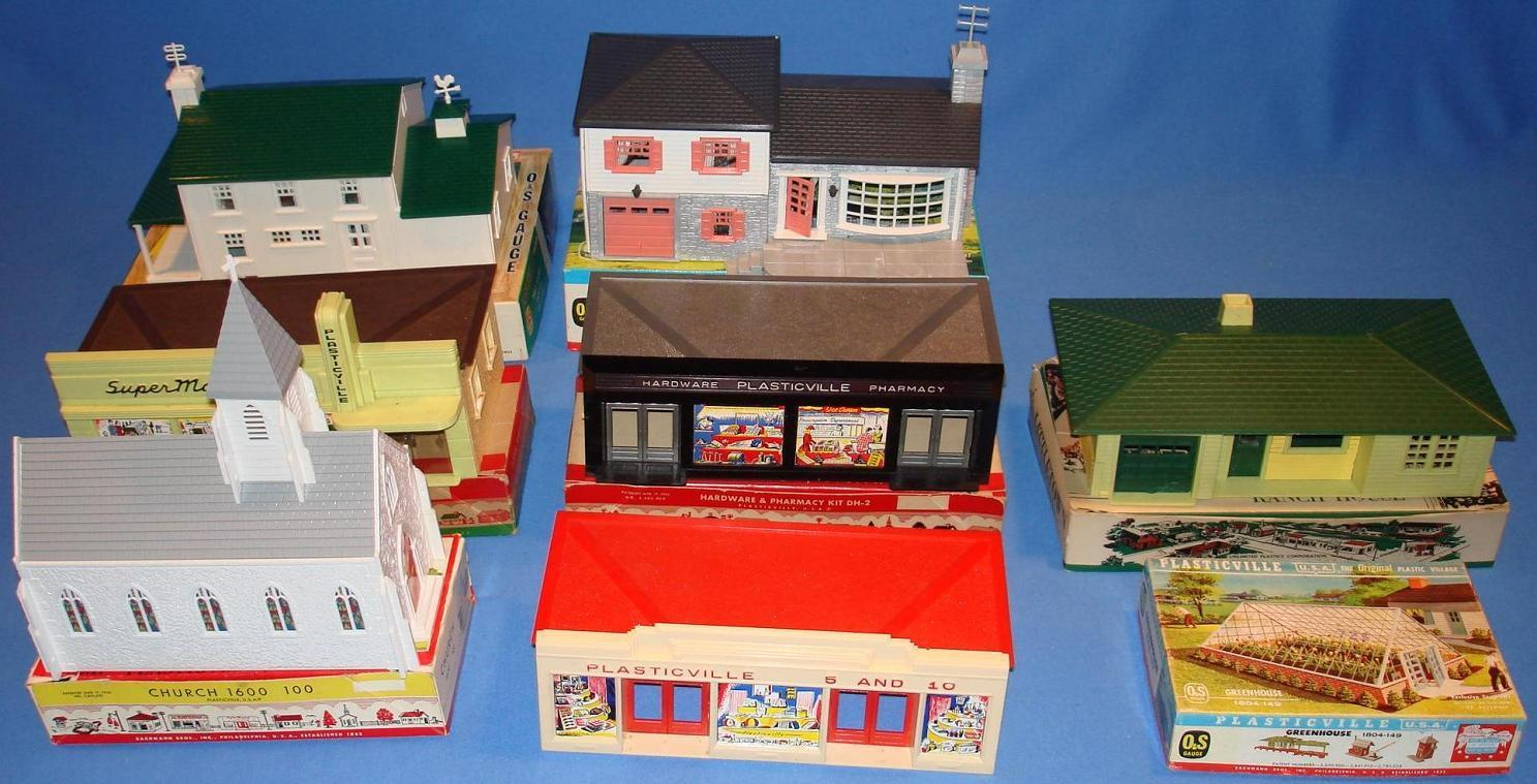Toy Model Buildings : Images about plasticville on pinterest ho scale