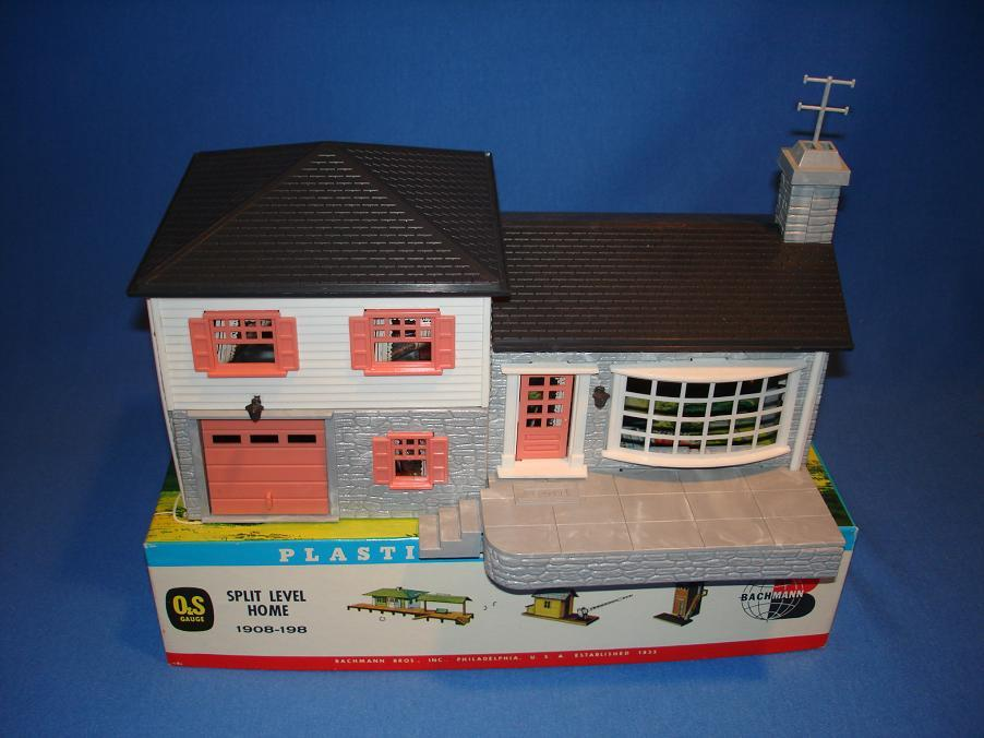 Bachmann plasticville building scenery kit collection for Split level kit homes