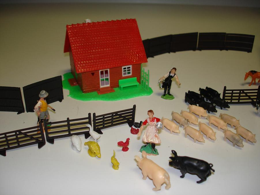 Farm Life Play 38 Piece Set Family