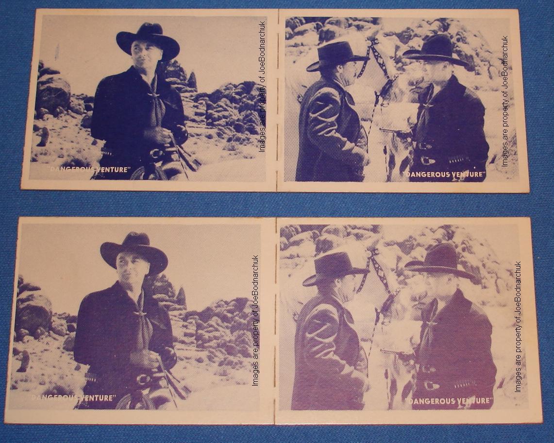 Hopalong Cassidy Western Gum Card Panels 01 02 Obverse