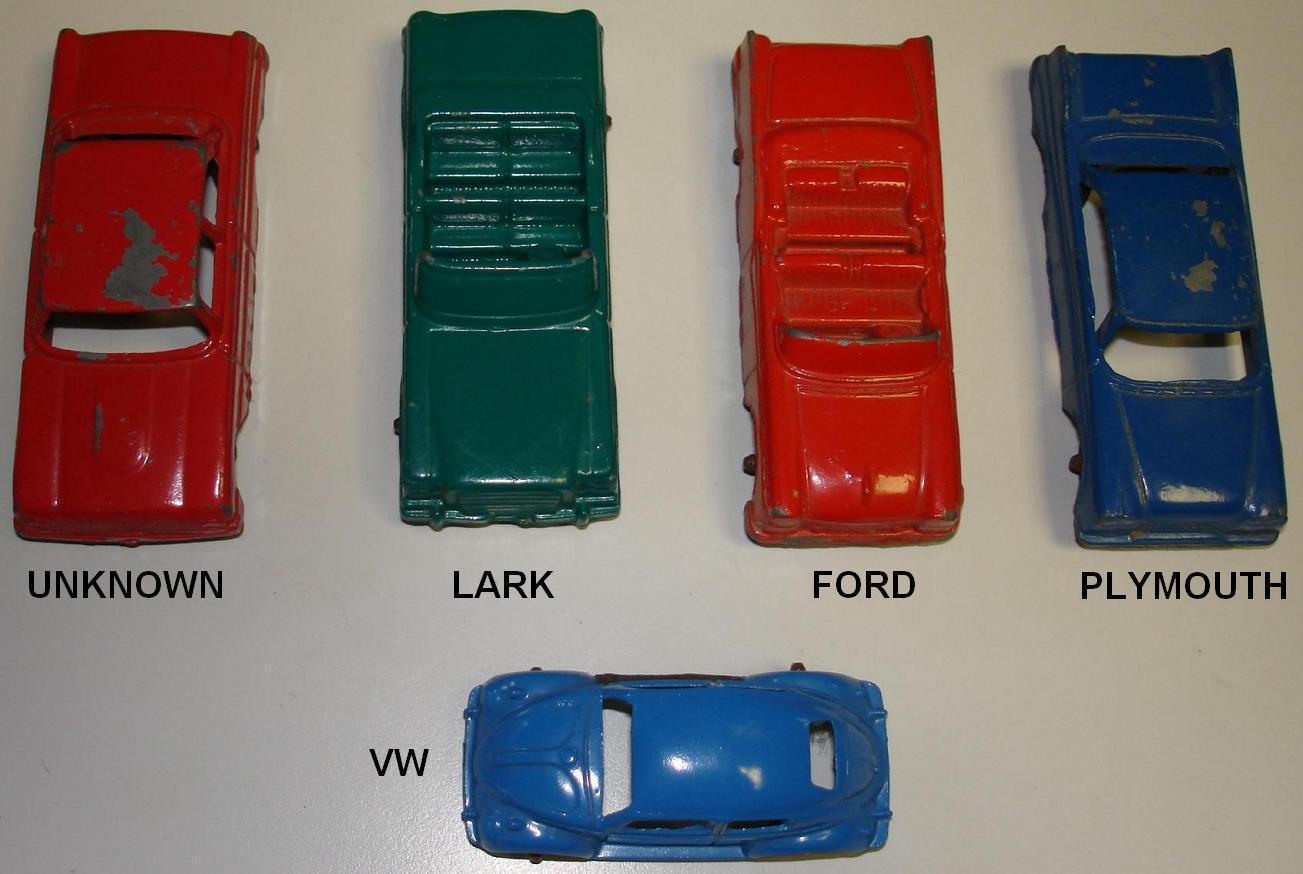 Tootsie Toy Metal Cars Hoods Lark Ford Plymouth Volkswagen