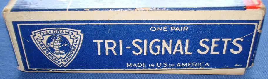 Tri Signal Telegraph Set Box End Panel