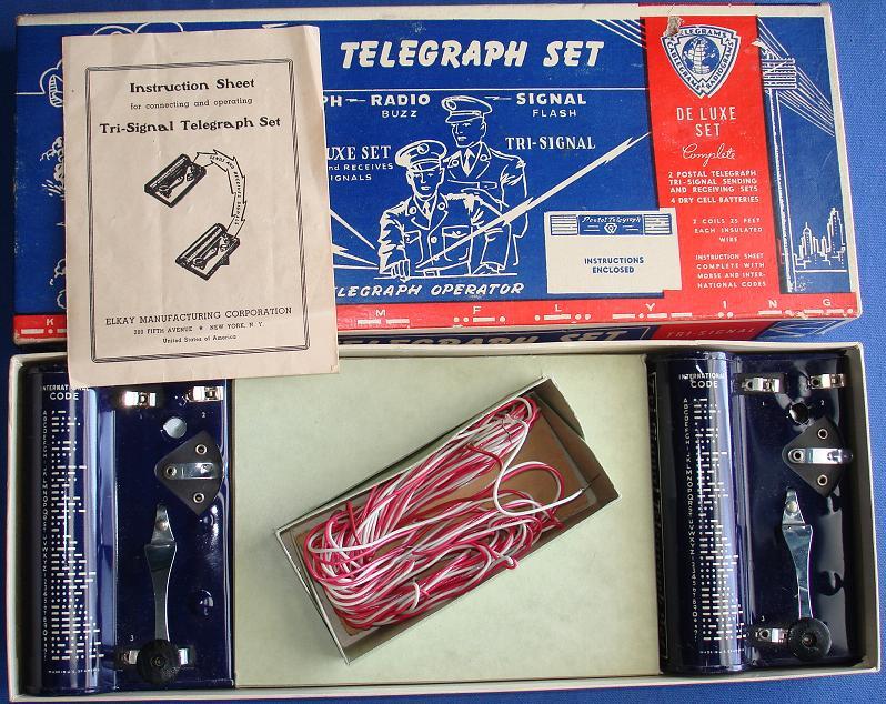 Tri Signal Telegraph Set Contents