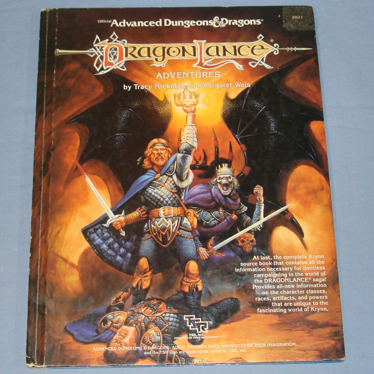TSR Dungeons & Dragons Dragon Lance Adventures Tracy Hickman Margaret Weis