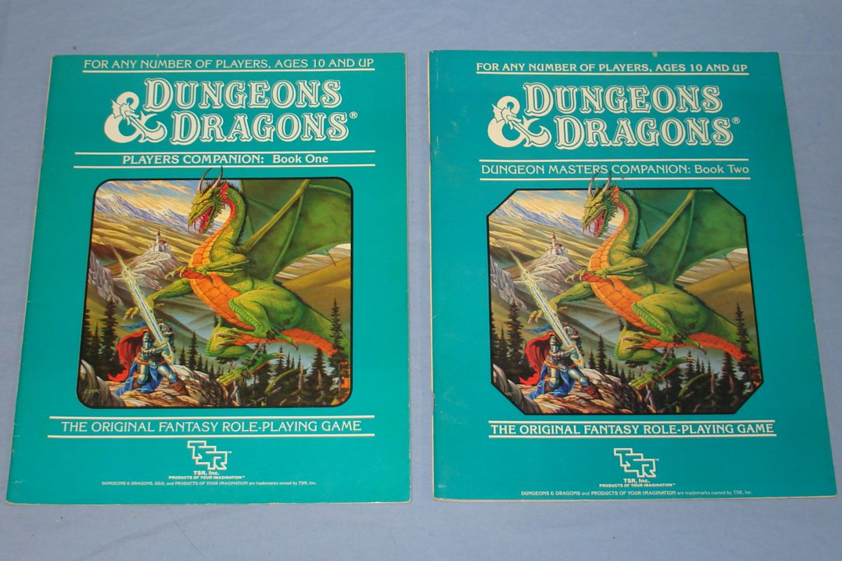 TSR Dungeons & Dragons Frank Mentzer Players Companion Book One & Master DM`s Companion Book Two