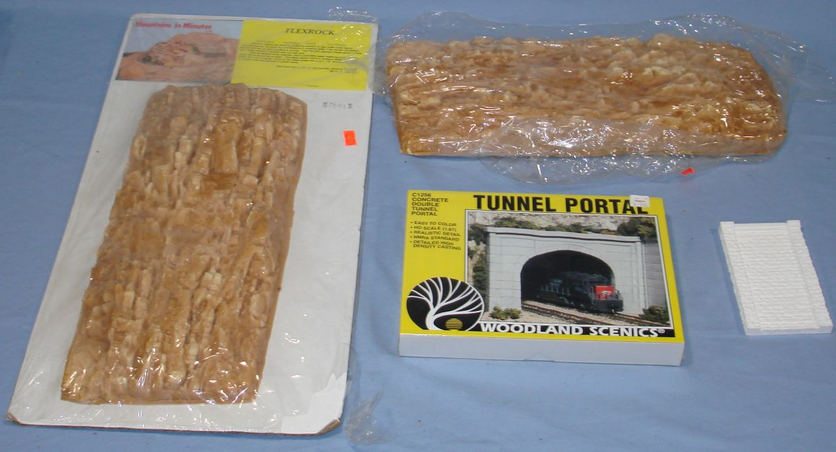 Model Railroading HO Scale Flexrock Woodland Scenics Train Layout Scenery Lot