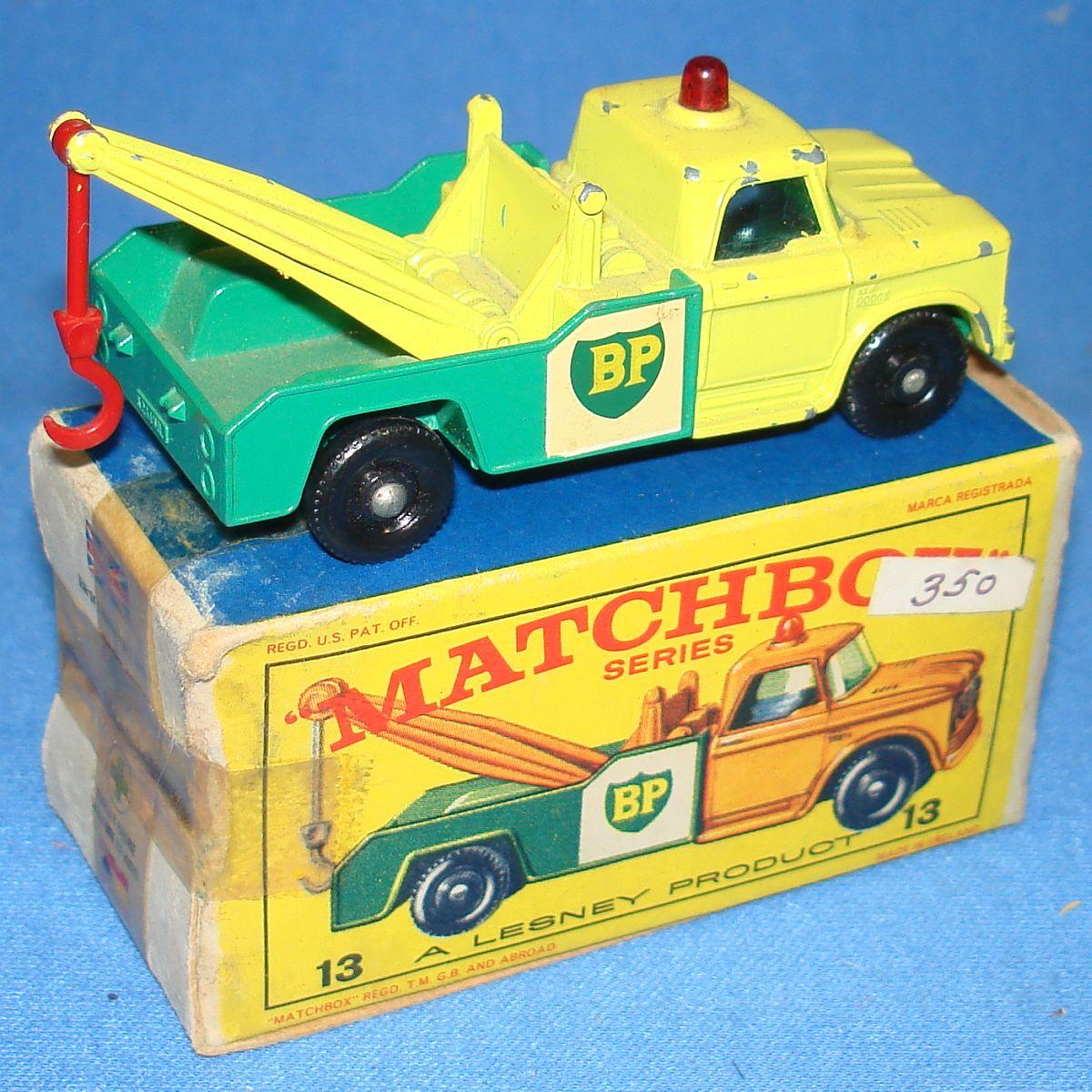 Vintage Matchbox Lesney 13 Dodge Wreck Truck Boom & Tow Hook