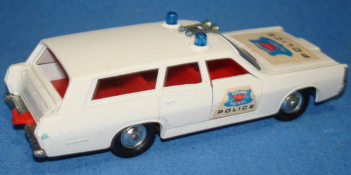 Vintage Matchbox Lesney K-23 King Size Mercury Commuter Highway Patrol Police Car Trunk
