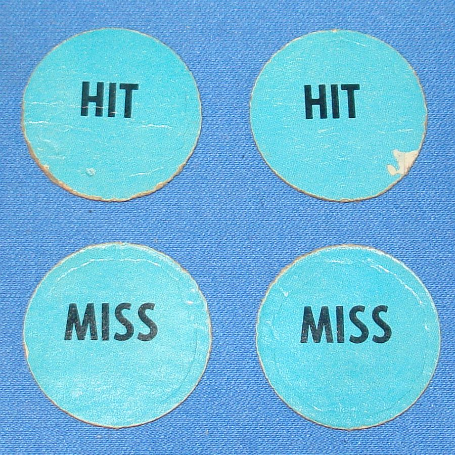 Milton Bradley MB #4032 American Heritage Dogfight Blue Anti Aircraft Gun HIT MISS Discs