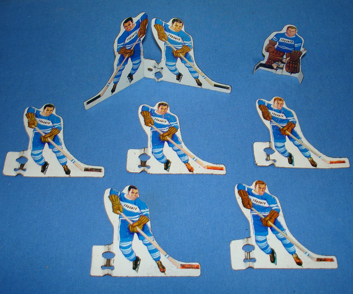 Vintage Sears Professional Hockey Table Game Power Play Shot Maker Goalie Toronto Maple Leafs Team