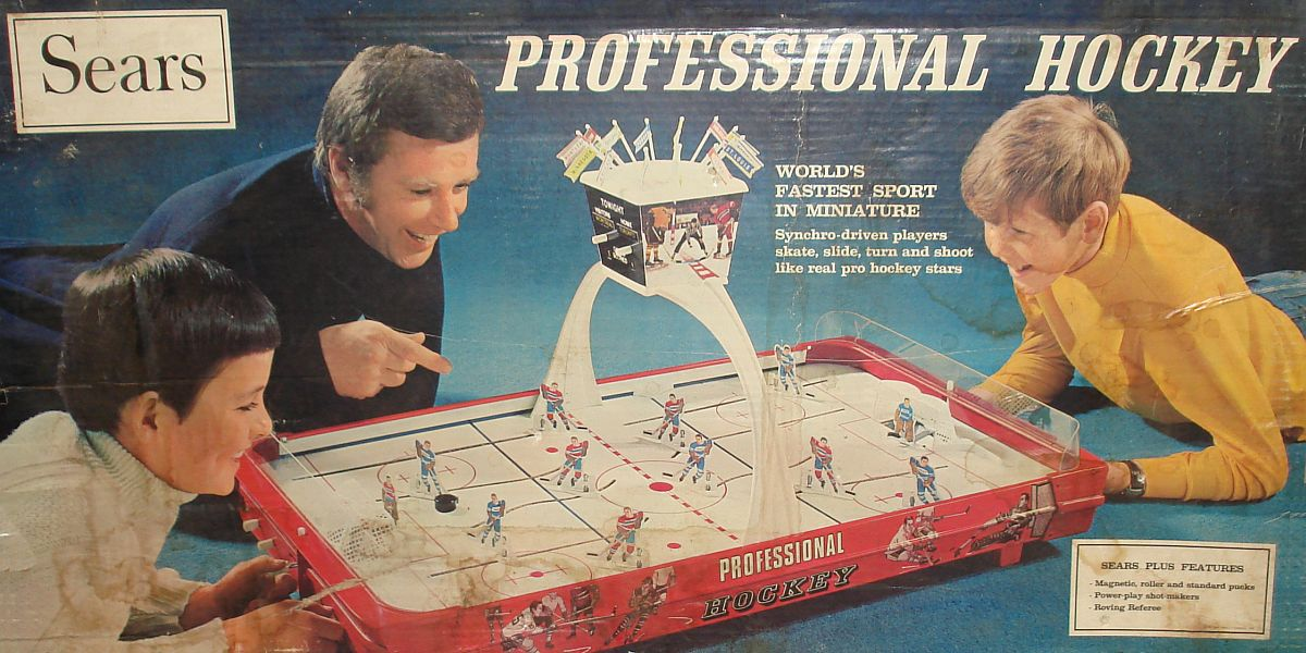 Vintage Sears Professional Hockey Table Game #Unknown Box Lid Graphics