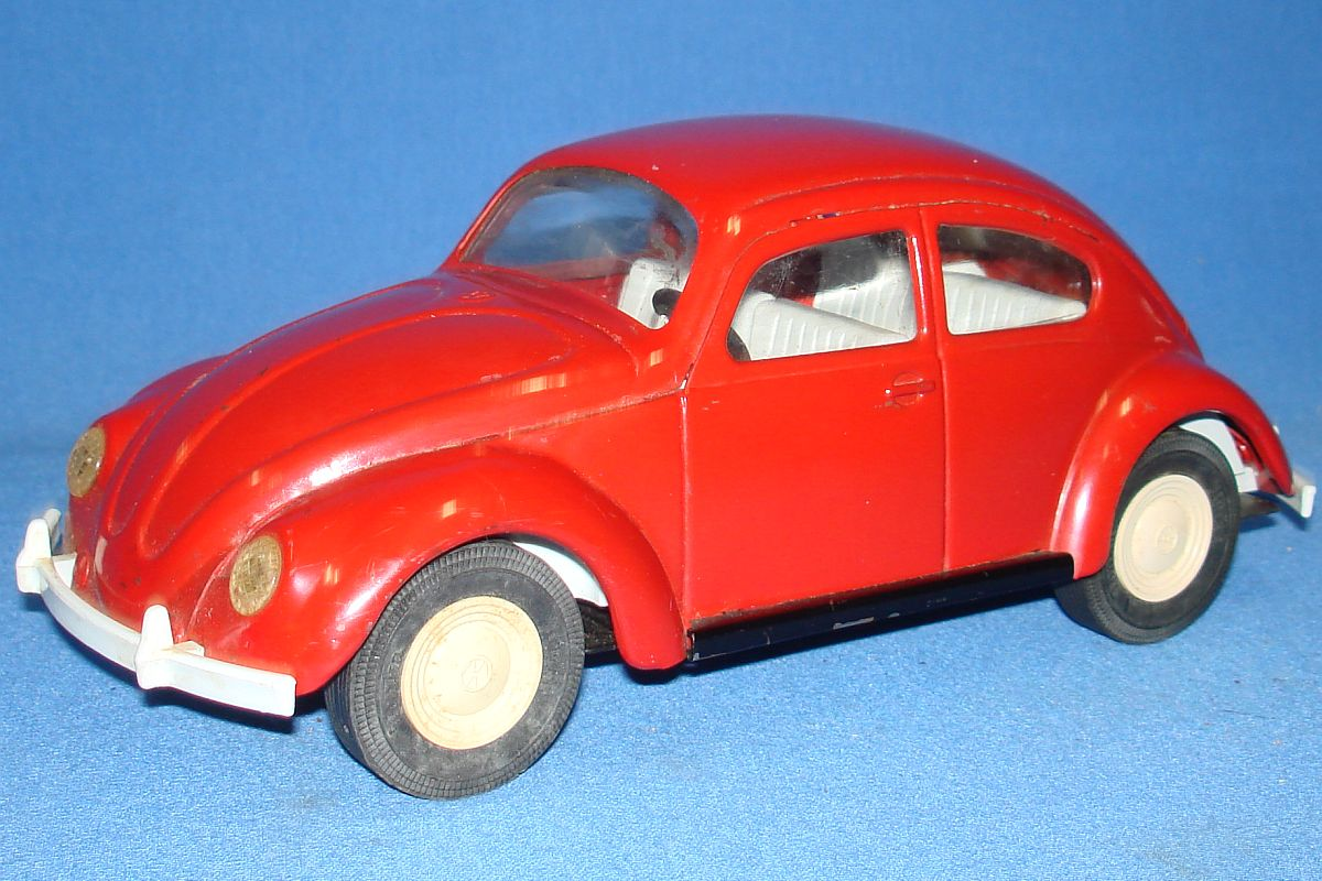 Tonka Toys Pressed Steel Red German Volkswagen VW Beetle Bug Auto Hood