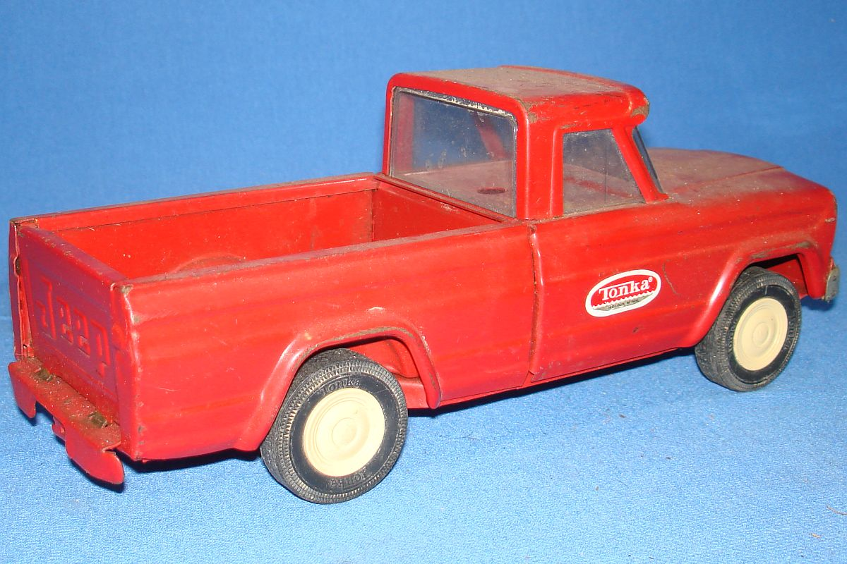 Tonka Toys Pressed Steel Red Pickup Truck Bed Tail Gate