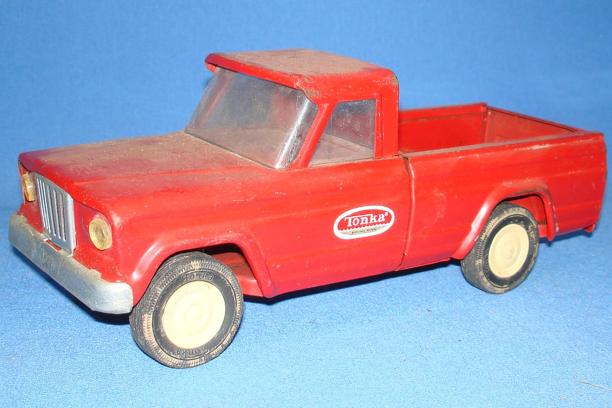 Tonka Toys Pressed Steel Red Pickup Truck Hood