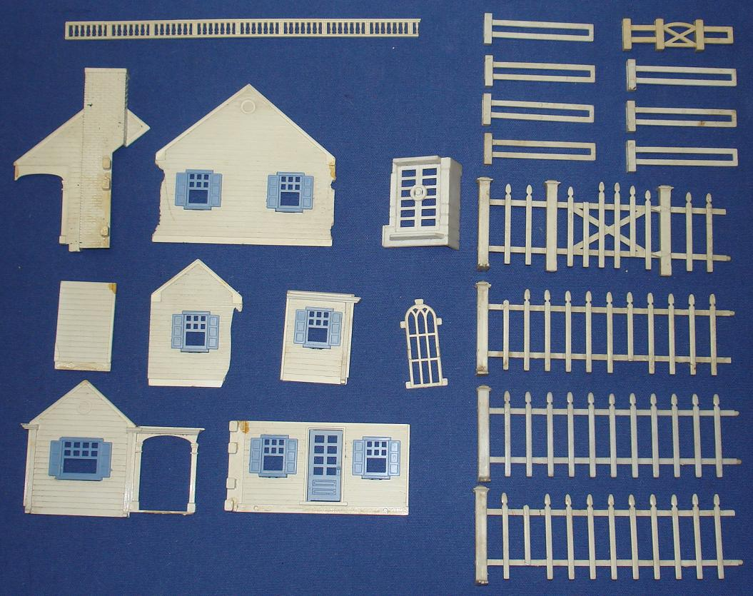 Accessories O Gauge Buildings : Vintage plasticville train layout buildings accessories