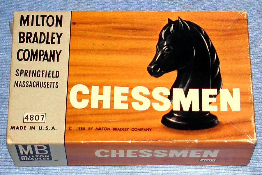 Milton Bradley Chessmen Pieces #4807 Box