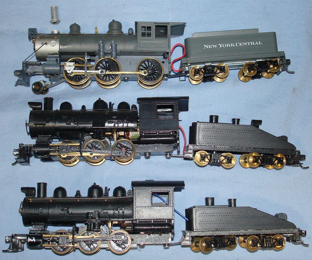 Vintage HO Gauge Model Railroad Train Brass Engines Steam Locomotives & Tenders