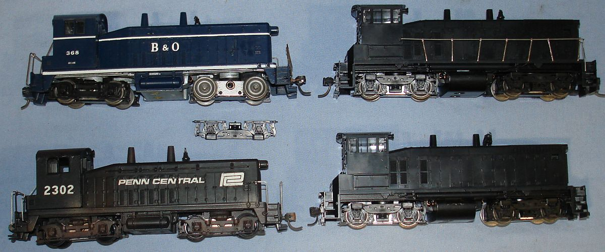 HO Gauge Model Railroading Train Diesel Switchers & Dummy