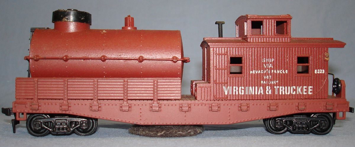 Vintage Life-Like Products Virginia Truckee V&T Railway Track Cleaning Caboose Car #5323 Fluid Tank