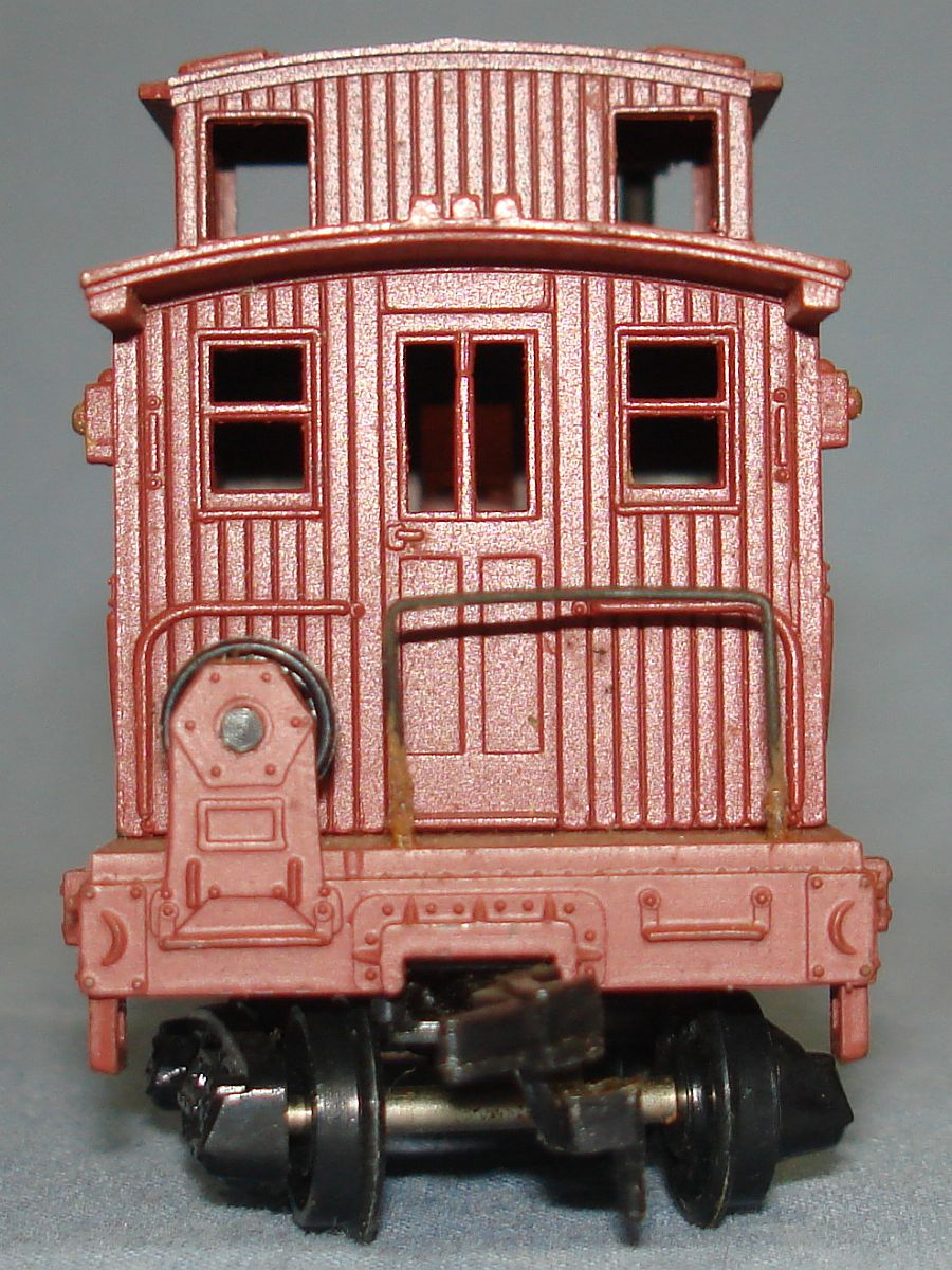 Vintage Life-Like Products Virginia Truckee V&T Railway Track Cleaning Caboose Car #5323 Rear