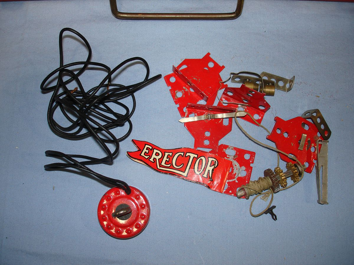 Vintage Electric Erector Set 8 1/2 Builds Giant Ferris Wheel Banner