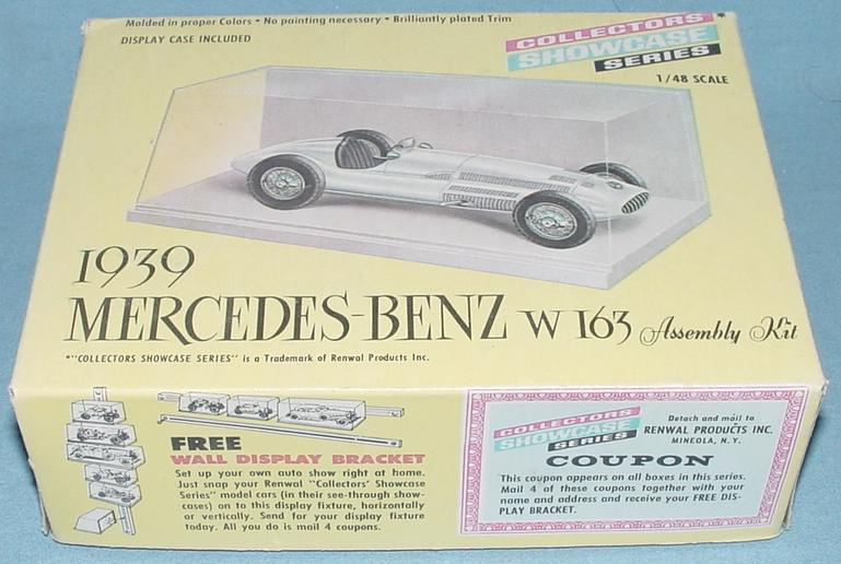 Renwal Collectors Showcase Series Mercedes Benz W163 Kit Box