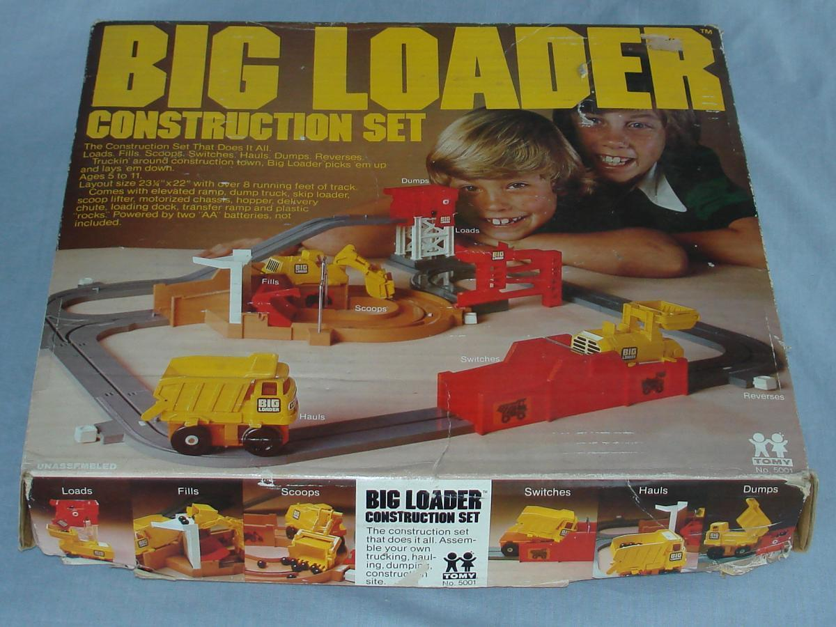 Tomy Big Loader Construction Set #5001 Box Lid