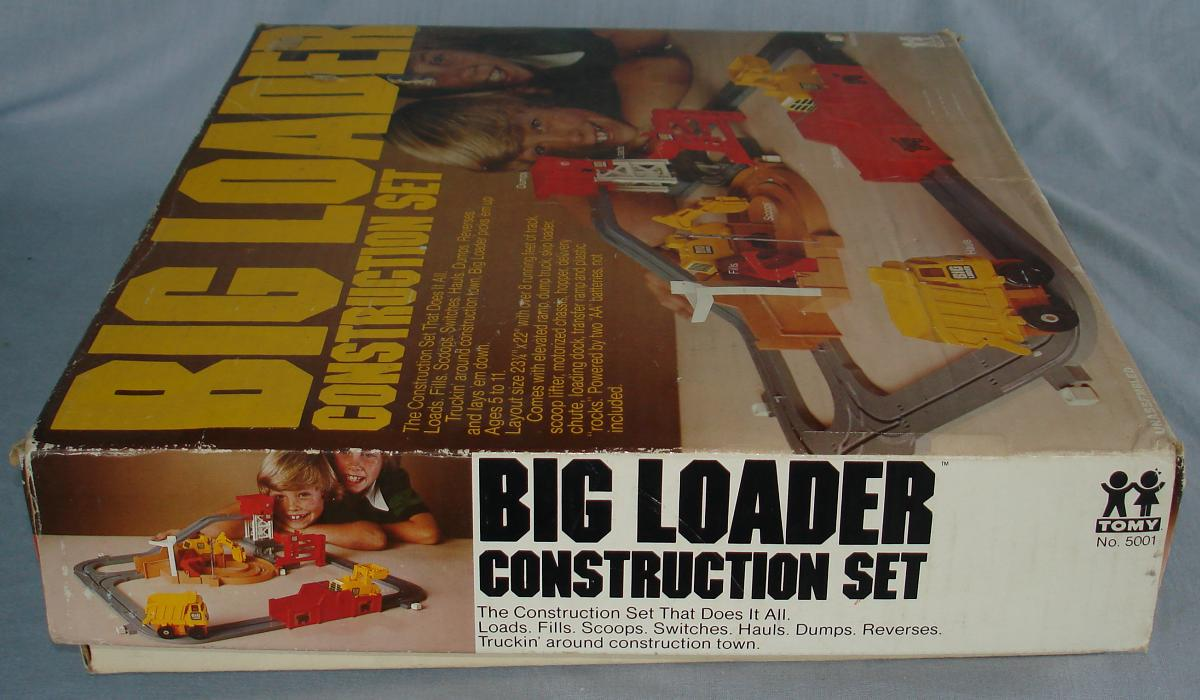 Tomy Big Loader Construction Set #5001 Box Lid End Flap