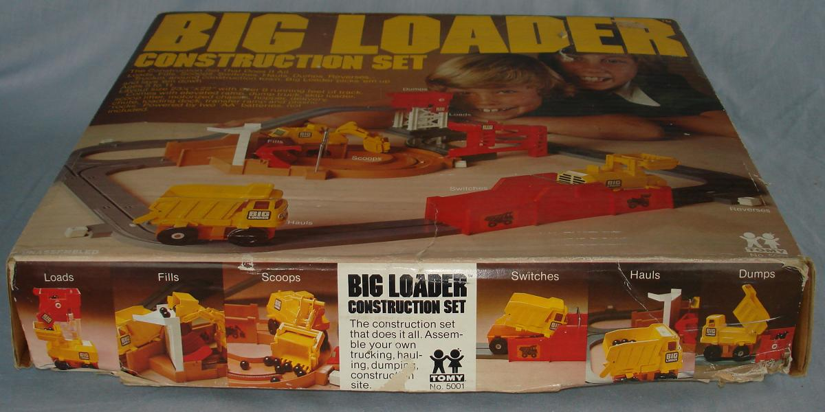 Tomy Big Loader Construction Set #5001 Box Lid Side Panel