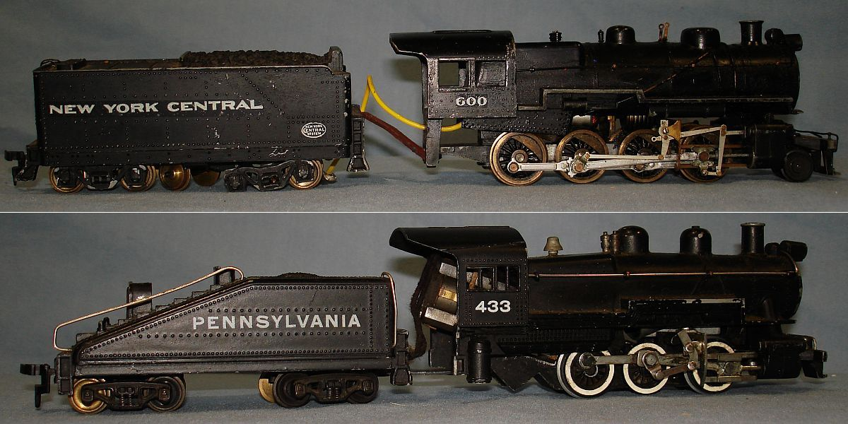 Vintage Unknown Model Railroad HO Train Steam Engines NYC Pennsylvania Coal Tenders